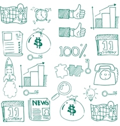 Doodle of business with hand draw vector image