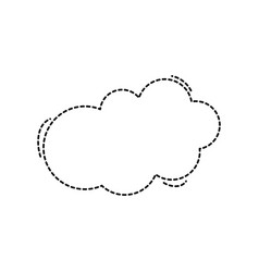 Dotted shape fashion cloud art style design vector