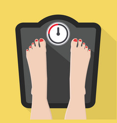 feet on weight scale vector image