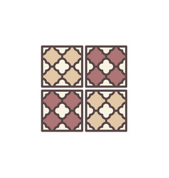 floor or wall tiles concept colored icon vector image
