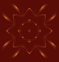Geometric abstract mandala of deep red color vector