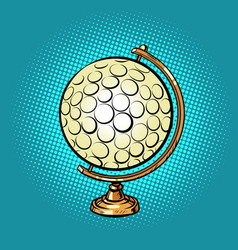 globe international golf ball sports equipment vector image