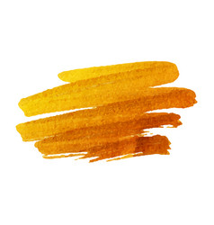 golden brush stroke golden splash vector image