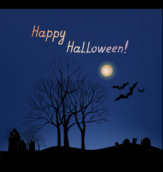 halloween greeting card background holiday vector image