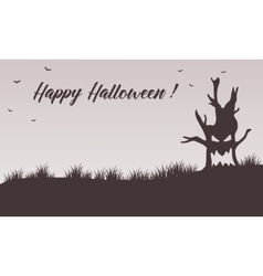 Happy Halloween backgrounds tree monster vector image
