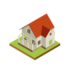 House finishing isometric 3d icon vector