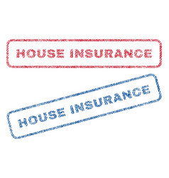 House insurance textile stamps vector