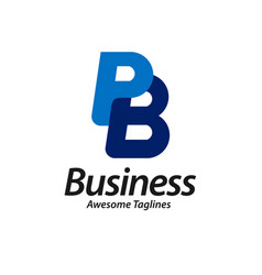 letter pb logo design vector image