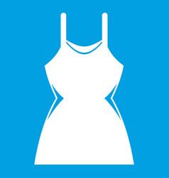 Little dress icon white vector