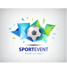 Logo football championships soccer vector