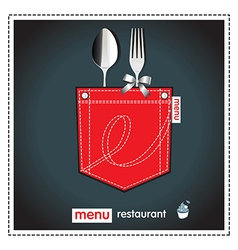 menu restaurant vector image