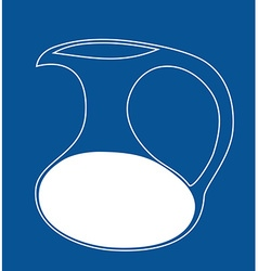 Milk jug icon Isolated vector image