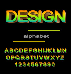 modern colored font design for typography vector image