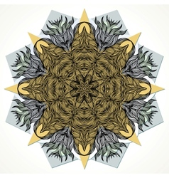Modern mandala design vector image
