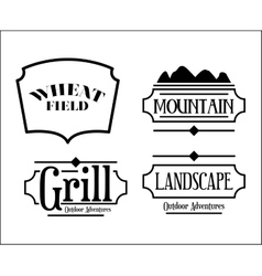 mountain frame set isolated icon design vector image