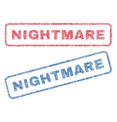 Nightmare textile stamps vector
