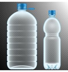 Plastic bottles transparent eps 10 vector