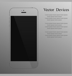 realistic transparent smartphone with a blank vector image