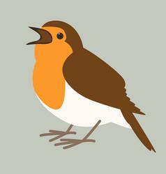 robin bird flat vector image