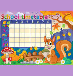 School timetable thematic image 6 vector