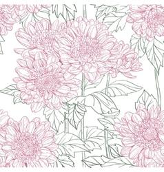 Seamless pattern chrysanthemum vector
