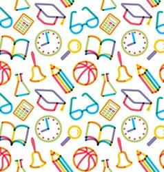 Seamless school background vector