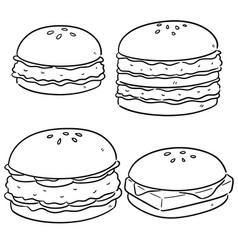 set burger vector image