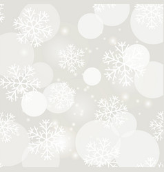 showflakes pattern winter christmas texture vector image