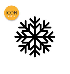 snowflake icon isolated flat style vector image
