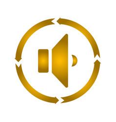Speaker turn icon vector