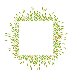 Square frame with beautiful leaves vector