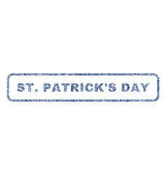 Stpatrick s day textile stamp vector