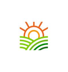 Sun farm logo icon design vector