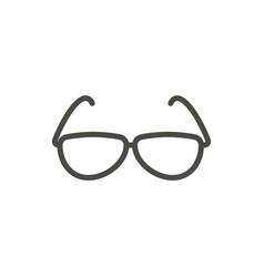 sunglasses icon line summer glasses symbol vector image