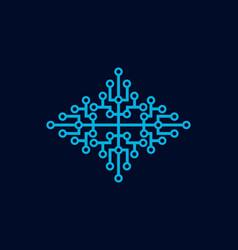 technology molecule logo vector image