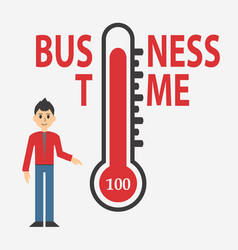 temperature thermometers business day concept vector image