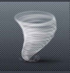 Tornado storm isolated realistic twister vector