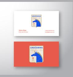 Unicorns medieval sports team emblem abstract vector