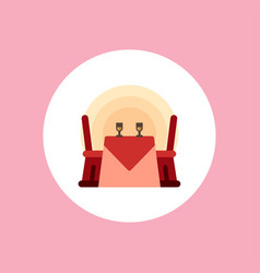valentine dinner table icon sign symbol vector image
