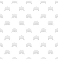 white baseball cap in front pattern seamless vector image