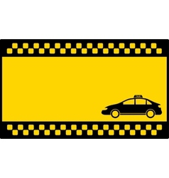 Yellow cab background with taxi car vector
