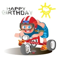 Birthday greetings for the rider vector image