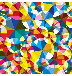 Circles seamless pattern vector image