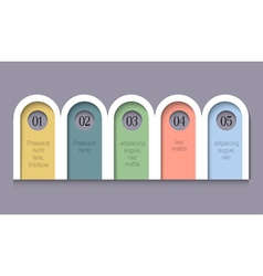 Infographic Options rounded Paper Banners vector image vector image