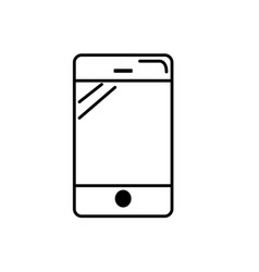 line smartphone technology to call and talk the vector image