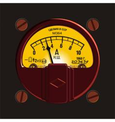 Old-fashioned ampermeter vector