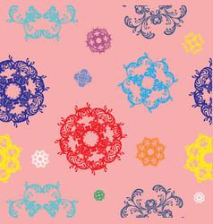 seamless pattern with colorful decor vector image