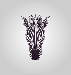 zebra logo icon design vector image