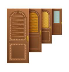 brown entrance doors vector image