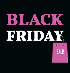 Poster for Black Friday Sale with Shopping Bag vector image
